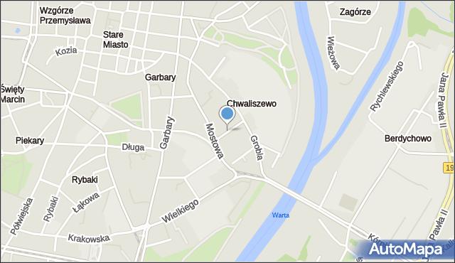 Poznań, Wierzbowa, mapa Poznania