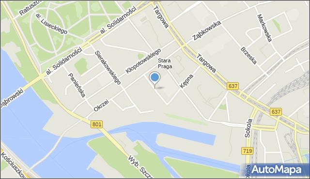 Warszawa, Wrzesińska, mapa Warszawy