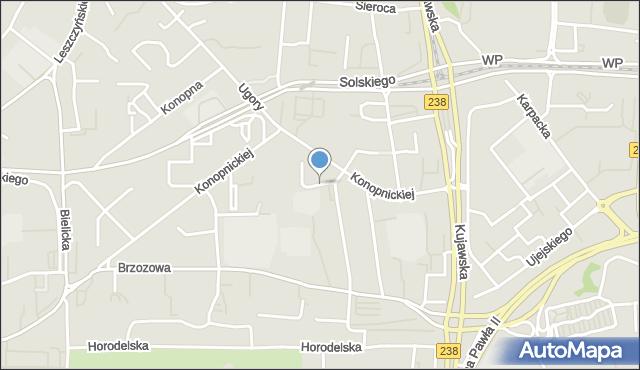 Bydgoszcz, Zapolskiej Gabrieli, mapa Bydgoszczy