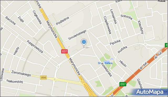 Warszawa, Zabłocińska, mapa Warszawy