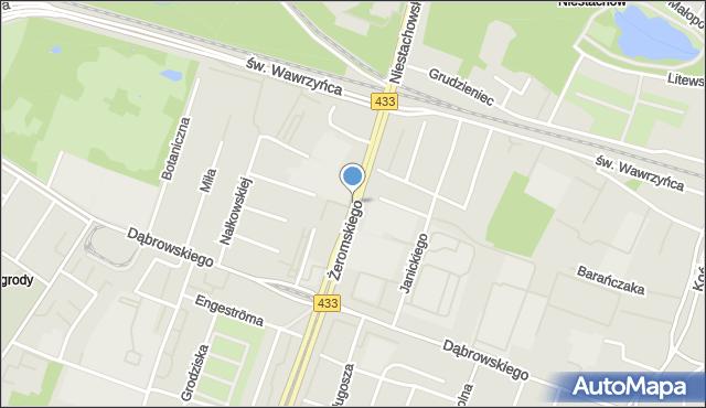 Poznań, Żeromskiego Stefana, mapa Poznania