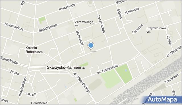 Skarżysko-Kamienna, Żeromskiego Stefana, mapa Skarżysko-Kamienna