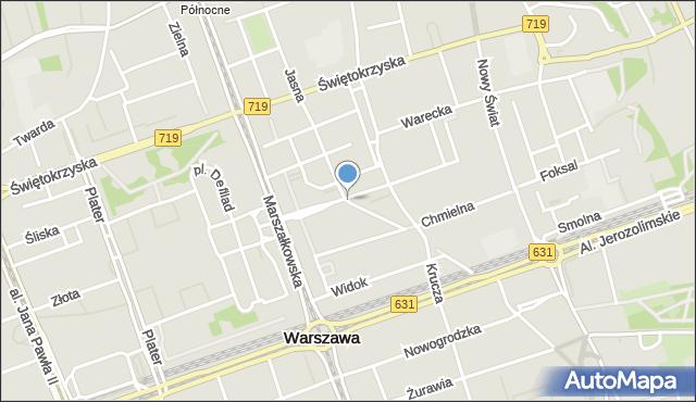 Warszawa, Zgoda, mapa Warszawy
