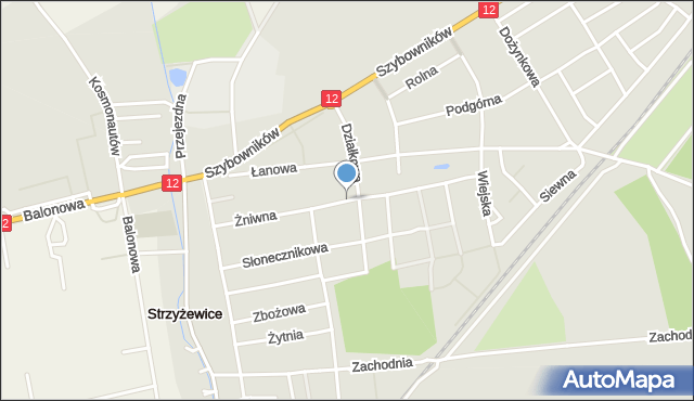 Leszno, Żniwna, mapa Leszno