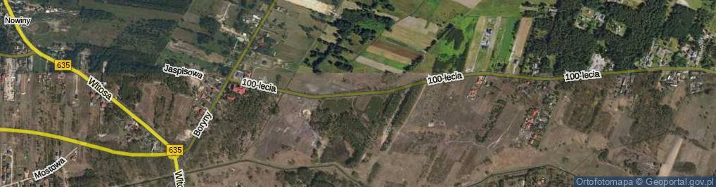 Zdjęcie satelitarne 100-lecia ul.