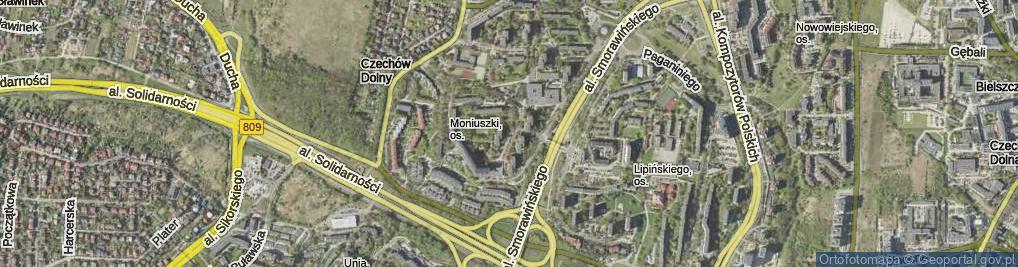 Zdjęcie satelitarne Chęcińskiego Jana ul.