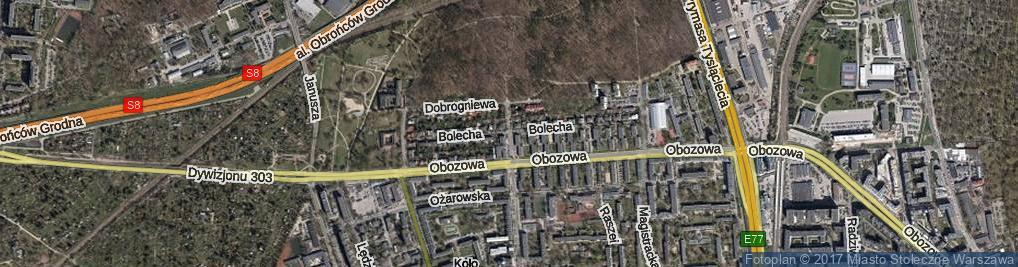 Zdjęcie satelitarne Dahlbergha Erika ul.