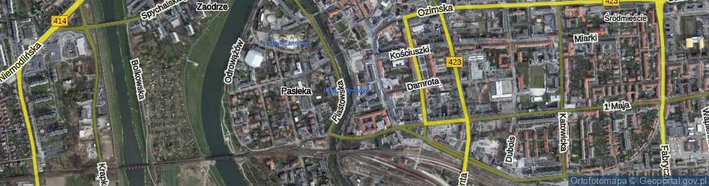 Zdjęcie satelitarne Franciszka Żwirki i Stanisława Wigury ul.