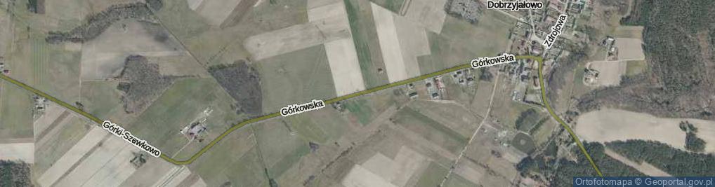 Zdjęcie satelitarne Górkowska ul.