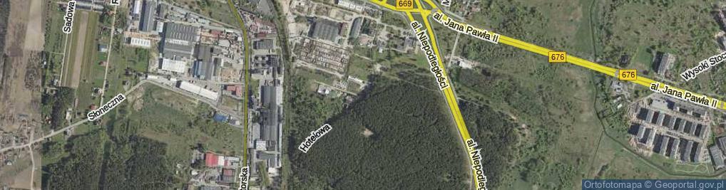 Zdjęcie satelitarne Hotelowa ul.
