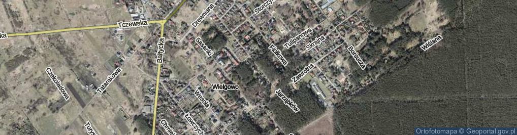 Zdjęcie satelitarne Jarząbków ul.
