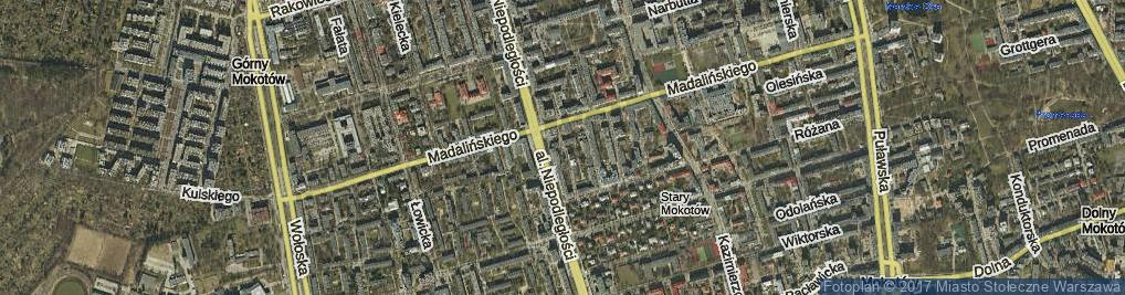 Zdjęcie satelitarne Króżańska ul.