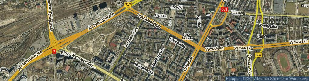 Zdjęcie satelitarne Lelechowska ul.