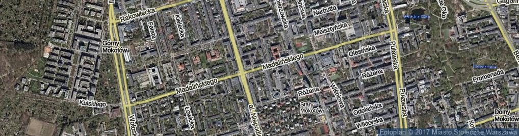 Zdjęcie satelitarne Madalińskiego Antoniego Józefa, gen. ul.