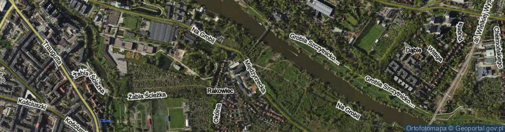 Zdjęcie satelitarne Na Grobli ul.