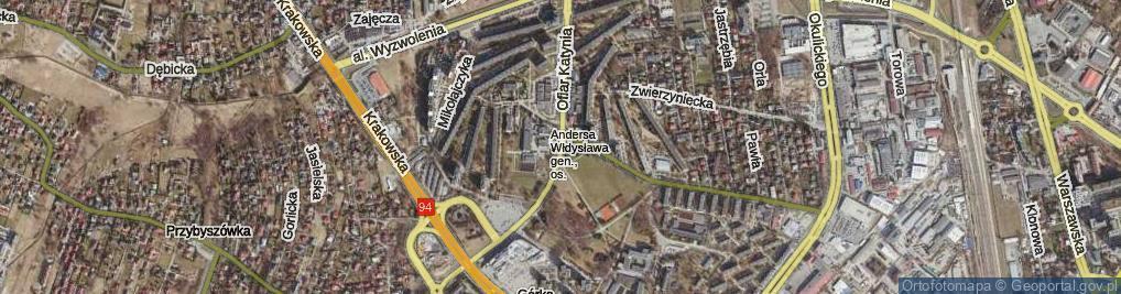 Zdjęcie satelitarne Ofiar Katynia ul.