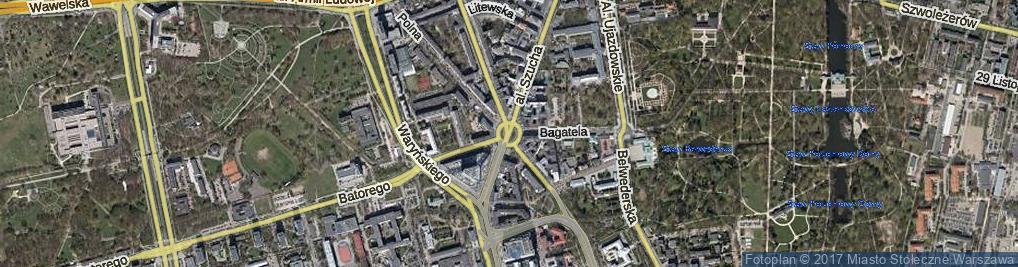 Zdjęcie satelitarne Plac Unii Lubelskiej pl.