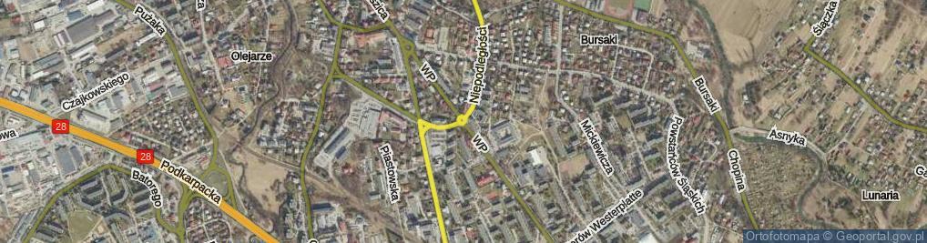 Zdjęcie satelitarne Rondo Honorowych Dawców Krwi rondo.