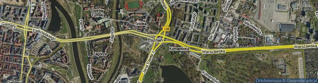 Zdjęcie satelitarne Rondo Śródka rondo.