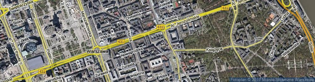 Zdjęcie satelitarne Skwer Wolnego Słowa skw.