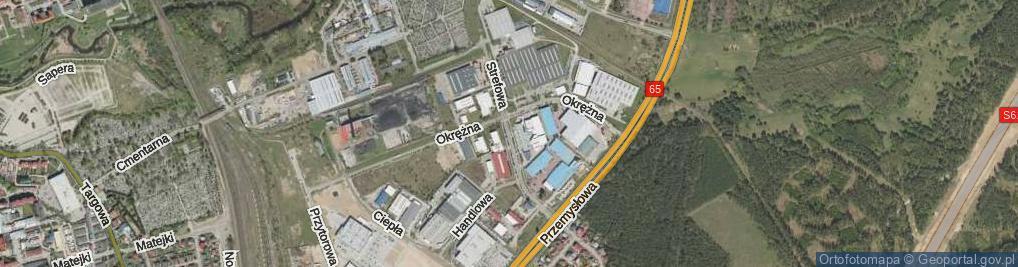 Zdjęcie satelitarne Strefowa ul.