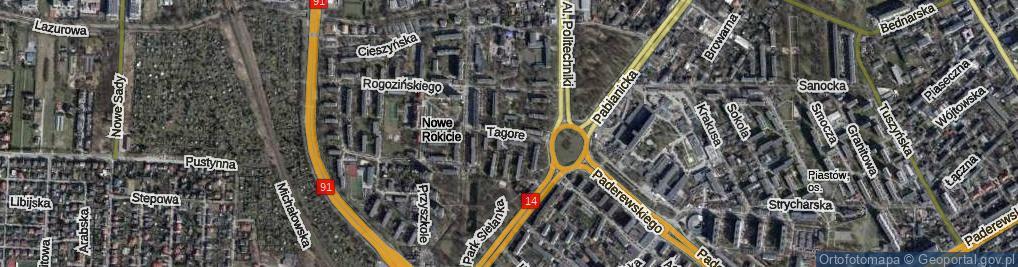 Zdjęcie satelitarne Tagore Rabindranatha ul.