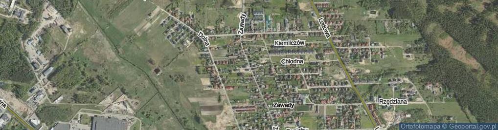 Zdjęcie satelitarne Zawady ul.
