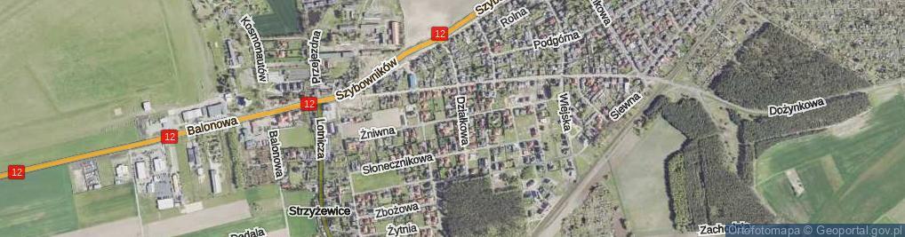 Zdjęcie satelitarne Żniwna ul.
