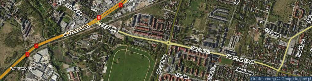 Zdjęcie satelitarne Zwycięska ul.